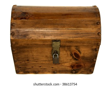 A locked wooden treasure chest...what's inside?