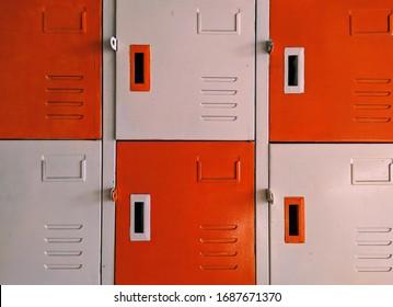 The locker cream and orange