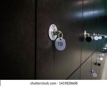 locker key number 19 interior space