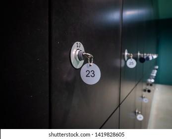 locker key number 23 interior space