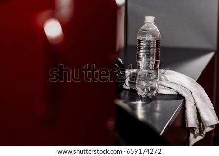 Locker room gym white towel boxing stock photo edit now 659174272