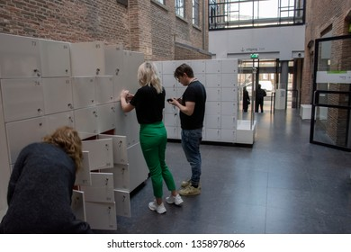 Lockers Inside The Jewish Museum At Amsterdam The Netherlands 2019