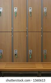 Lockers in a locker room
