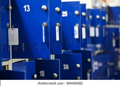 a lockers in the supermarket