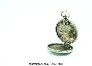 Locket for a blank on a white background with copy space for text.