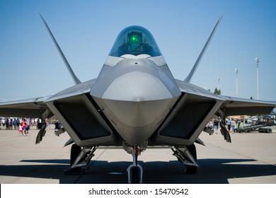 a Lockheed Martin/Boeing F-22 Raptor fighter plane