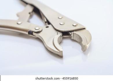 Locking Pliers on white background