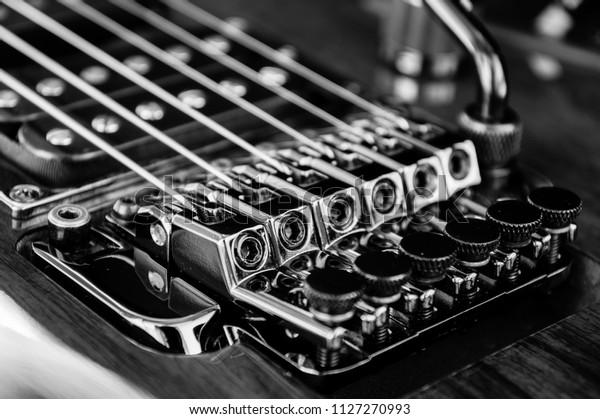 Locking Tremolo Bridge Electric Guitar Stock Photo (Edit Now
