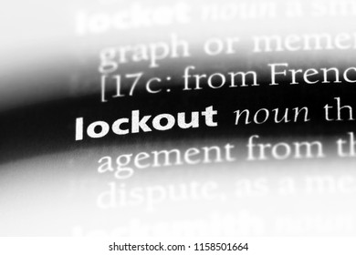 lockout word in a dictionary. lockout concept.