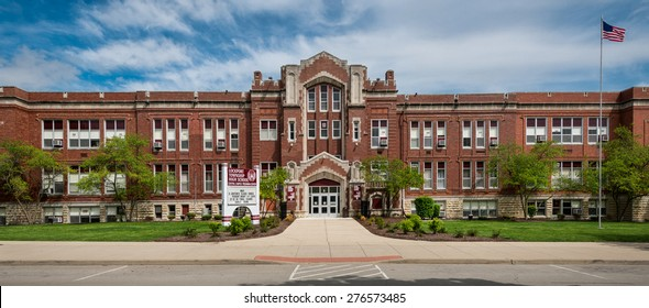 LOCKPORT, ILLINOIS - MAY 9: Lockport Township High School Central Campus on May 9, 2015 in Lockport, Illinois
