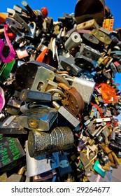 A lot of locks on the love tree