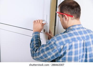 Locksmith, lock, door.