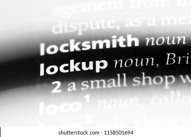 lockup word in a dictionary. lockup concept.