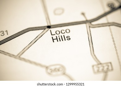 Loco Hills. New Mexico. USA on a map