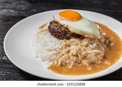 Loco Moco. Traditional Hawaiian cuisine.