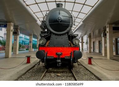 Locomotive Cagliari Station, Sardinia, Italy, 20th August 2018