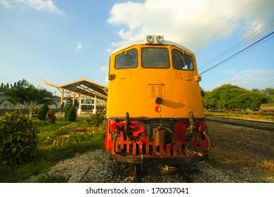Locomotive in chiangmai railway station