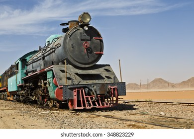 Locomotive train in Wadi Rum desert, Jordan