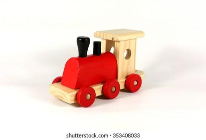 Locomotive, wooden train, toy