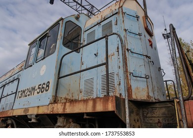Locomotives abandoned at Yaniv station outside Pripyat in the Chernobyl exclusion zone