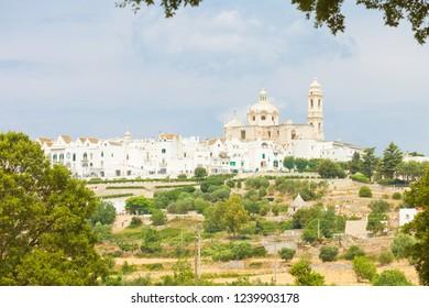 Locorotondo, Apulia, Italy - Skyline of Locorotondo from the landside