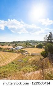 Locorotondo, Apulia, Italy - Sunshine while hiking through the heavenly landscape