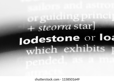 lodestone word in a dictionary. lodestone concept.