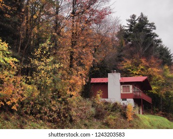 Lodge in the remote wilderness of The Adirondack Mountains, New York