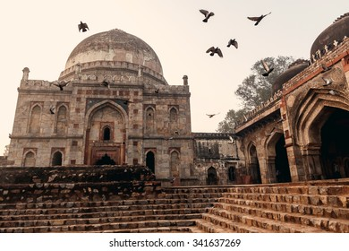 Lodi Gardens at sunrise in Delhi, India