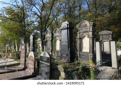 Lodz Jewish Cemetery, Lodz, Poland. 13 of October 2018. This is a very old Jewish Cemetery near the Jewish synagogue. This was the resting place of many of the Lodz Jewish community members.