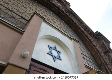 Lodz Jewish synagogue, Lodz Poland. 13 of October 2018. This was one of the Synagogues of the Jewish community in Lodz with mostly disappeared during World War 2.