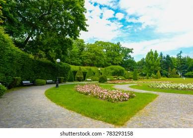 Lodz park in summer