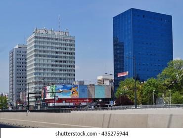 Lodz, Poland, 20 MAY 2016: City Lodz, street AL.Mickiewicza - The route WZ