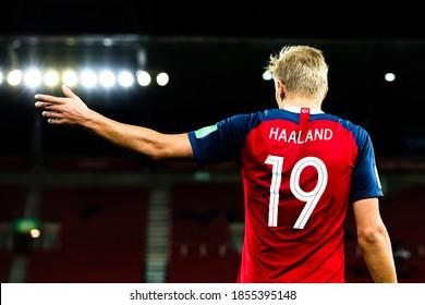 LODZ, POLAND - 27 MAY, 2019:  FIFA U-20 World Cup Poland 2019, Norway - New Zealand, o/p Erling Braut Haaland