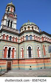 Lodz, Poland - Alexander Nevsky Orthodox cathedral. Architecture in Lodzkie province.