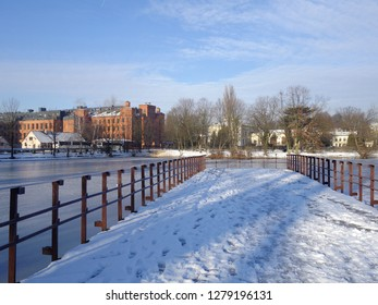 LODZ POLAND JANUARY 07, 2019: Loft Aparts  - Ancient textile factory -  architecture of the city of Lodz, Poland