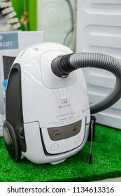 Lodz, Poland, July 11, 2018 inside Media Markt electronic store, Electrolux Ultrasilencer Zen vacuum cleaner, Allergy Care,  produced by Electrolux AB Swedish
