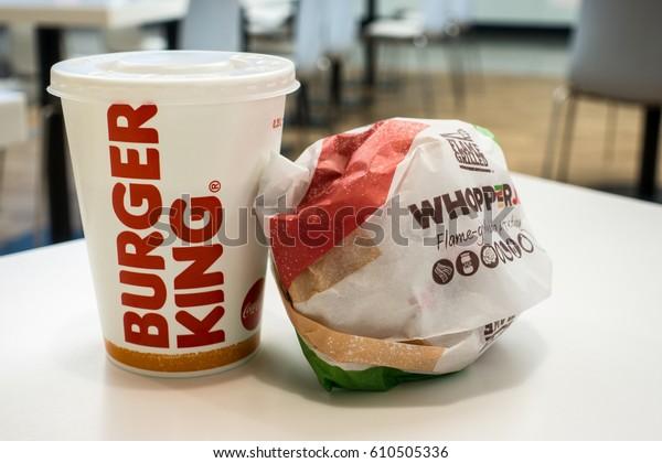 Lodz, Poland, March 28, 2017: Burger King Whopper