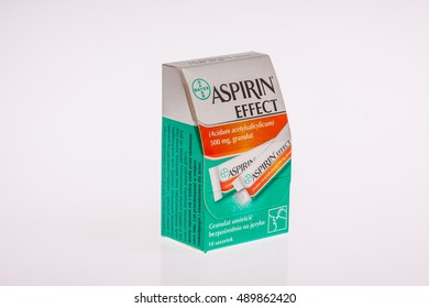 Lodz, Poland, September 27, 2016: ASPIRIN EFFECT by Bayer