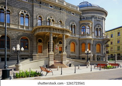 LODZ,POLAND,MAY,  04,2018 ;  Academy of Music in Lodz - the former palace of the Lodz industrialist Izrael Poznanski