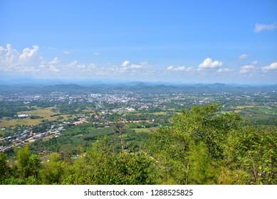 Loei city view from Phu Bo Bit viewpoint Taken at Phu Bo Bit, Loei, Thailand Taken date November 18, 2018
