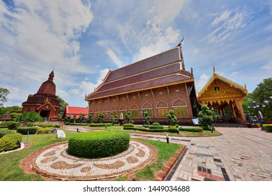 Loei Province, Thailand - July 12, 2019 : Wat Neramit Wipatsana the famous place to travel in Dan Sai District