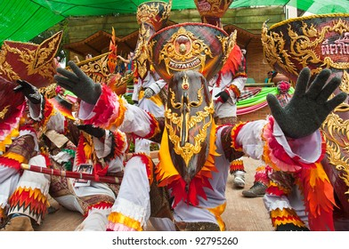 """LOEI PROVINCE,THAILAND-JULY 1: Ghost Festival (Phi Ta Khon) is a type of masked procession celebrated on Buddhist merit- making holiday known in Thai as""""Boon Pra Wate"""" at Dan Sai district,July 1,2011"""