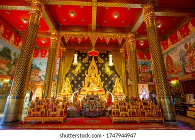 Loei, Thailand- December 26, 2018 : Beautiful of Buddha in the temple Wat Neramit Wipatsana, Loei, Thailand on Dec 26, 2018
