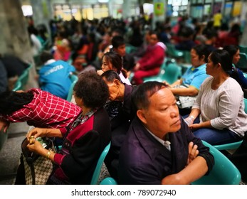 LOEI, THAILAND - JANUARY 3, 2018 : Patient wait for doctor in the hospital on Jan 3,2018 .