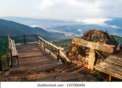 Loei, Thailand - January 30, 2018. View of the camping point on top of the mountain at Phu Taopong, the unseen destination of Dansai district, Loei province, Thailand.