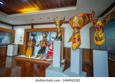 LOEI, THAILAND - JULY 6, 2019 : Wat Phon Chai Temple and Phi Ta Khon Dan Sai Museum, Dan Sai , Loei in Thailand. Phi Ta Khon Festival on JULY in Loei, Thailand.