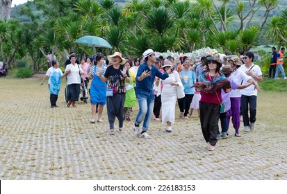 LOEI, THAILAND, OCTOBER 25: A traditional Buddhist ceremony, Kathin, held at Wat Pa Huay Lad , Loei,Thailand on the 25 October, 2014