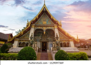 LOEI, THAILAND - OCTOBER 4, 2017: Wat Sri Khun Muang or Wat Yai is one of the important religious places of Chiang Khan people