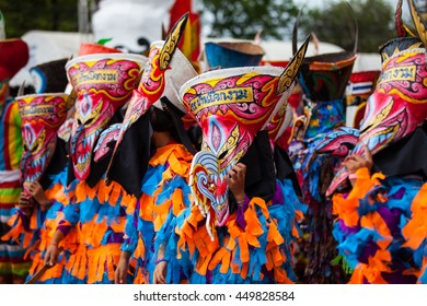"""LOEI ,THAILAND-JULY 7: Ghost Festival (Phi Ta Khon) The mask procession celebrated  on Buddhist holiday known in Thai as""""Boon Pra Wate"""" at Loei province,July 7, 2016"""
